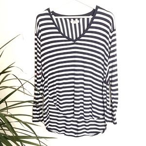 Madewell Navy and White Striped Anthem T-Shirt